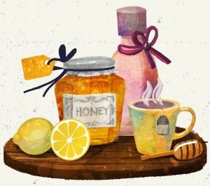 honey and cinnamon benefits illustration