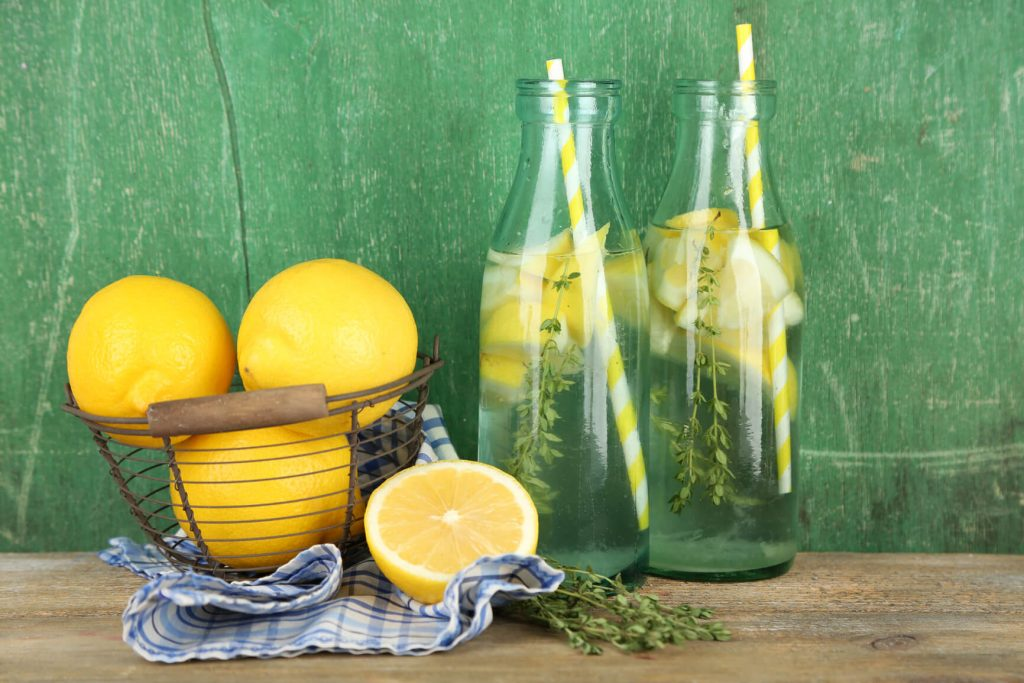 lemon water detox drink