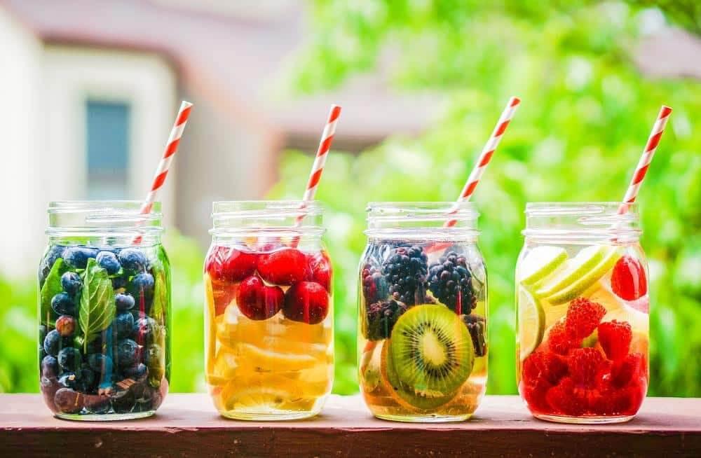 variety of detox waters