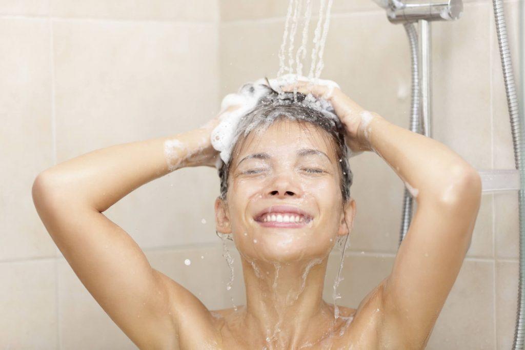 washing hair well