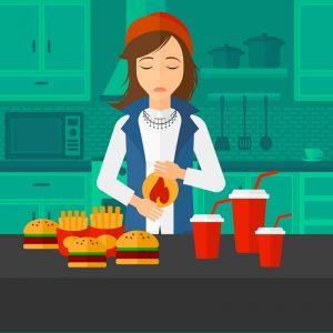 home remedies for heartburn illustration